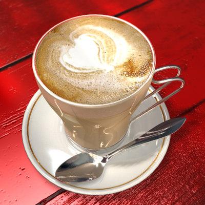 cinema4d cappuccine cup coffee