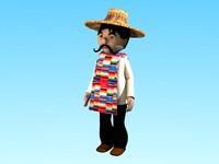 3d model mexican charro