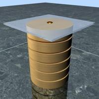 3d model of center table