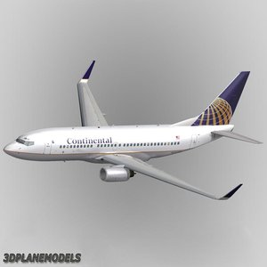 3ds b737-700 continental airlines 737