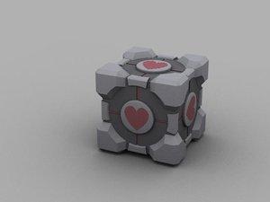 3d model companion cube