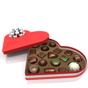chocolate heart box 3ds