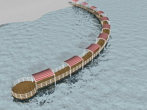 3d curved jetty