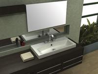 bath sink 3d model