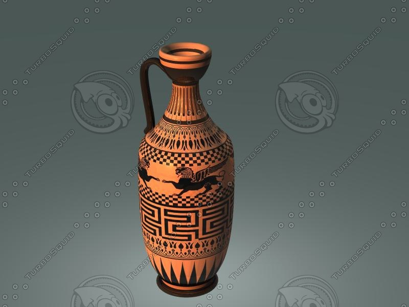 maya ancient red figure pottery-lekythos