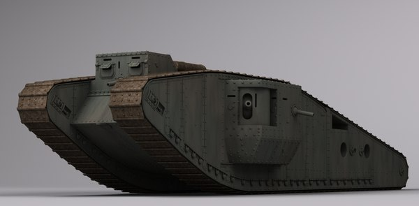 3d model wwi british mk iv