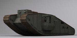 3d model wwi british mk iv