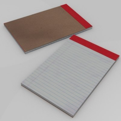 3d notepad lined paper