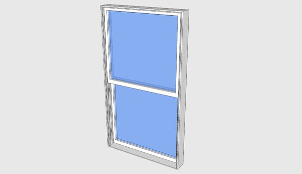 proline double-hung window 3ds free