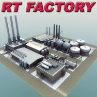 industrial factory rt 3d model