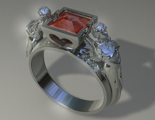 woman s diamond ring 3ds