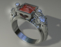 woman s diamond ring 3ds
