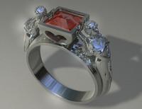 "Woman""s diamond ring. Ring Angels"