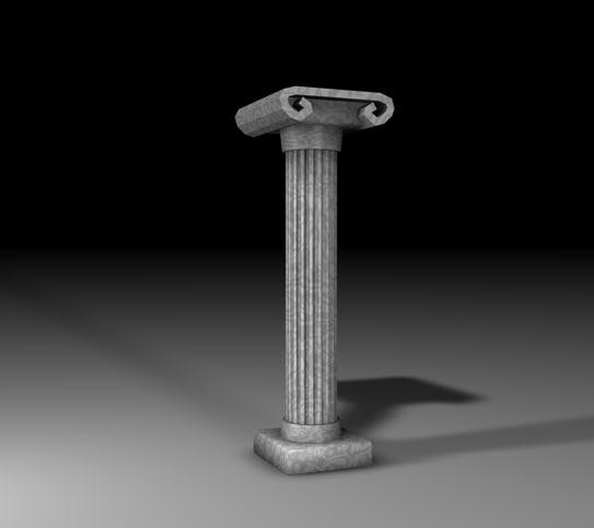 3ds roman pillar