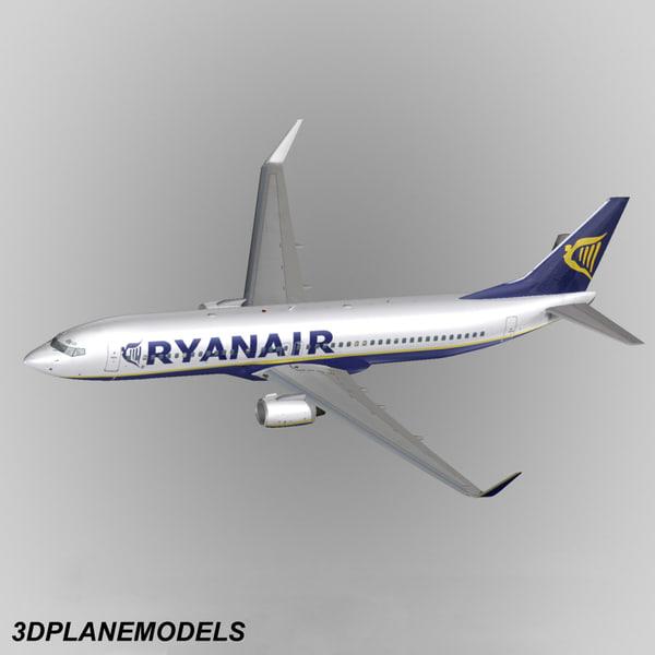 obj b737-800 ryanair 737