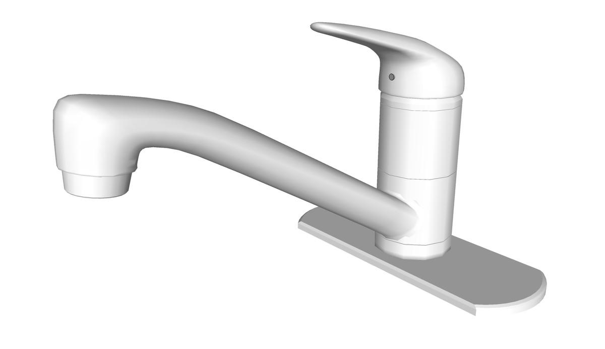 sloan single handle kitchen 3ds free