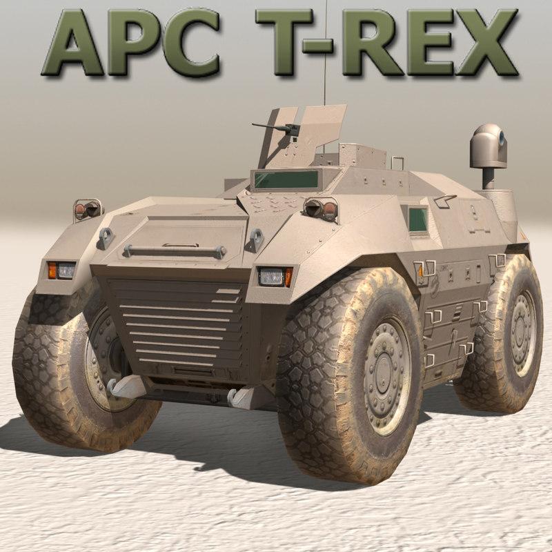 apc carrier truck 3d model