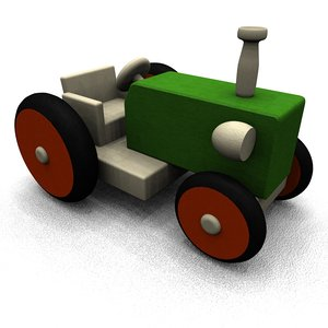 wooden toy 3d model