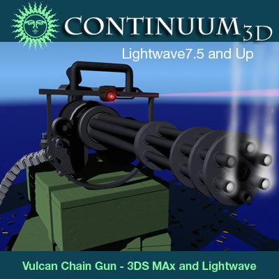 handheld vulcan chain gun 3d model
