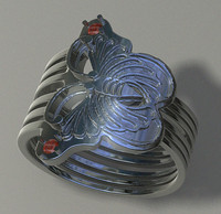 3d jewelry ring woman model