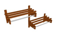 Wood Hospitality Coat Racks Double Level Rack
