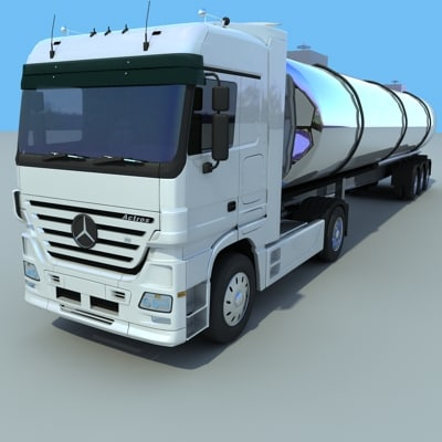 mercedes benz actros cistern 3ds