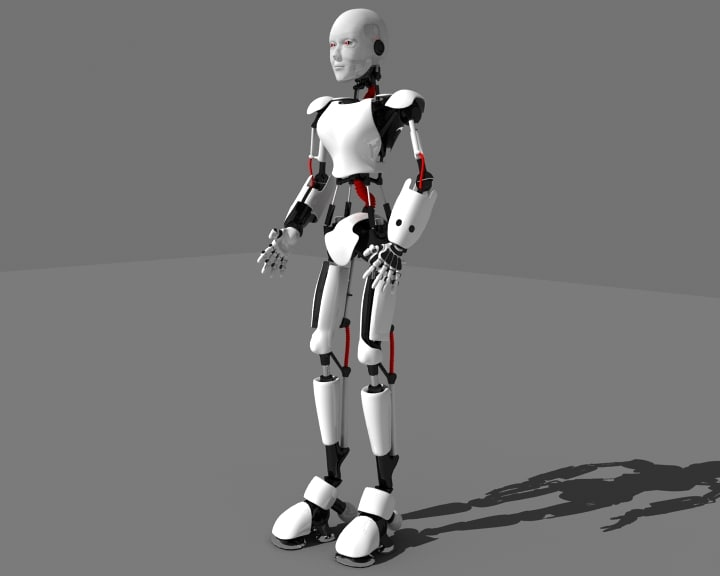 3d robot android model