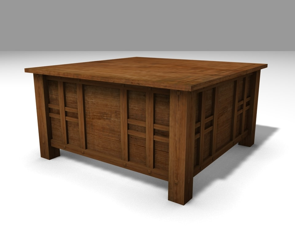 asian coffee table 3d blend