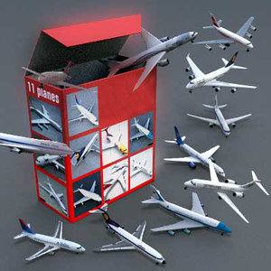 3d model planes airlines