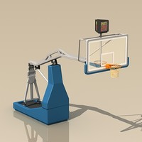 basketball backboard 3d max