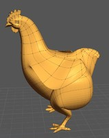 Low-poly fat chicken.