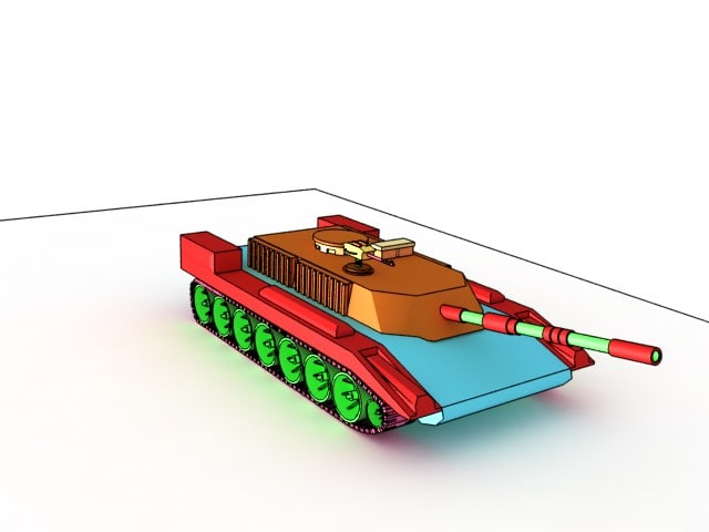 free toon tank 3d model