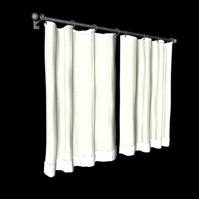 c4d window drapes curtains