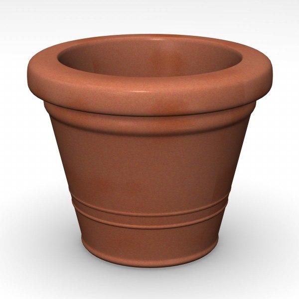 3ds flower pot