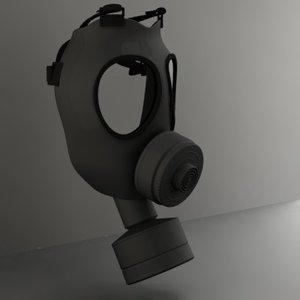gas mask 3d model
