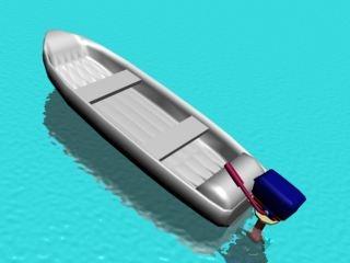 free fishing boat 3d model