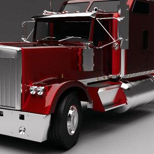 3ds max semi truck trailer