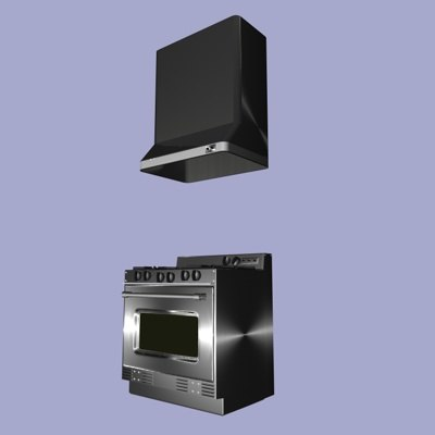 3d kitchen stove model