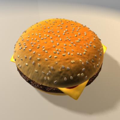 3ds max cheeseburger burger