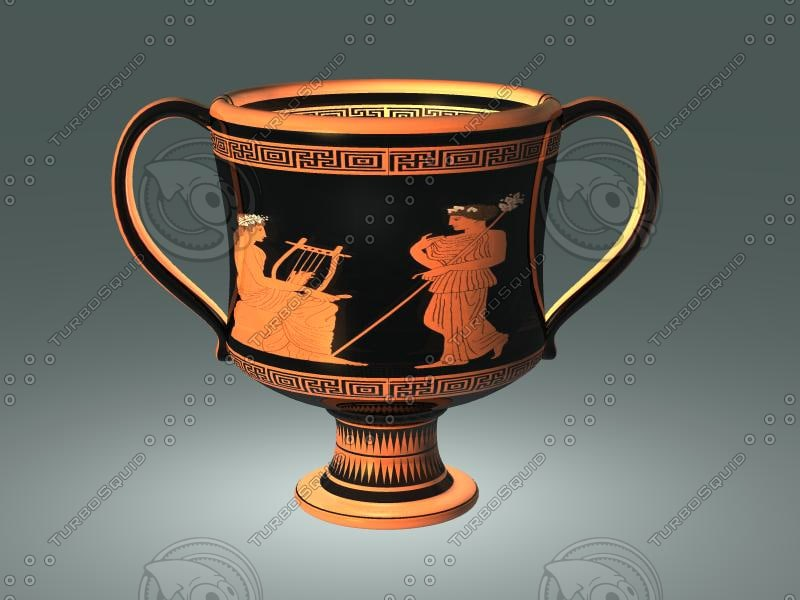 3d ancient greek red figure