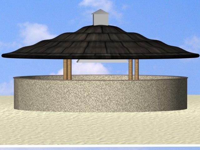 3d kiosk beaches resorts model