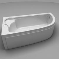bathtub 3d obj