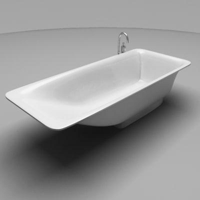 bathtub 3d max