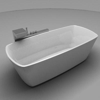 3d bathtub