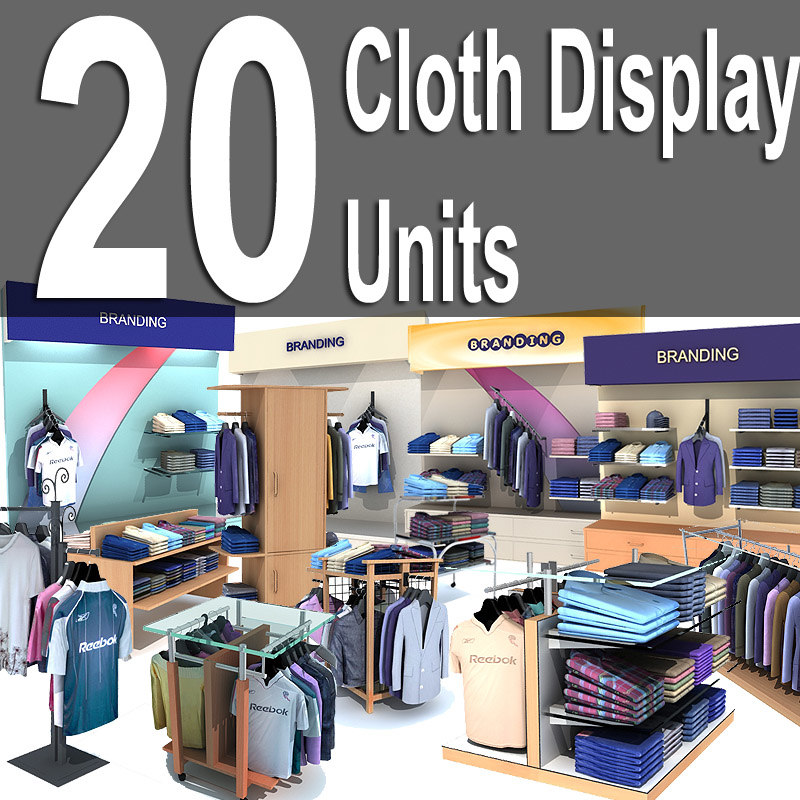 3d model fashion display units 20