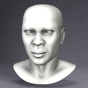 3d dxf samuel human male head reference