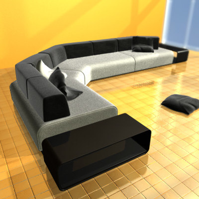 c4d classic sofa