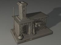 3d russian stove model
