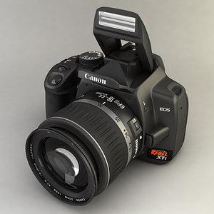 canon xti 400d lens 3d model