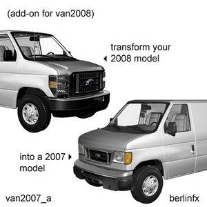 3d model 2007 van2007